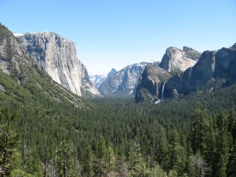 A view of Yosemite Valley