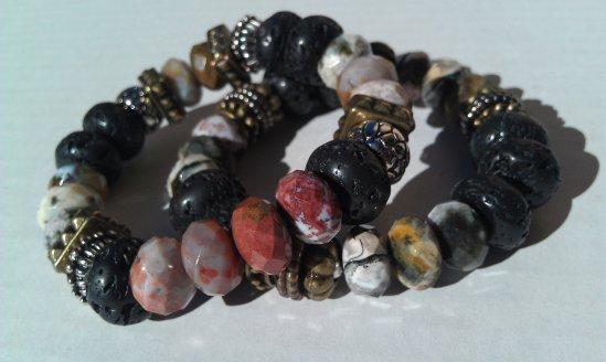 StoneEdge semi precious beaded bracelets stack!