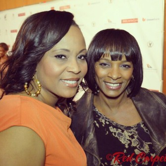 Me with Vanessa Bell Calloway at the Pan Africn Film Fest