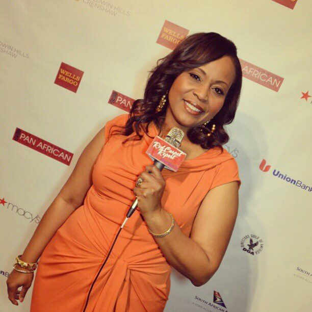 Me on the red carpet at the pan african film festival