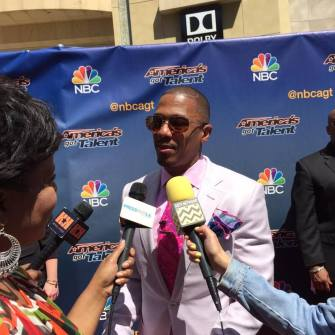 Here I am Interviewing Nick Cannon!
